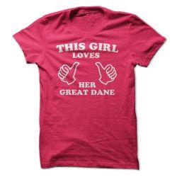 Cette fille aime son Great Dane