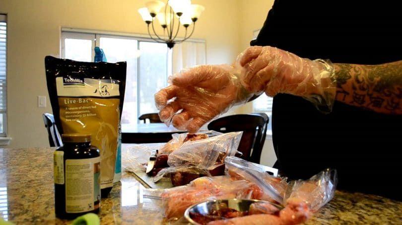 Pit Bull la préparation des aliments