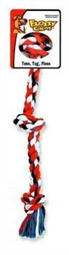 Mammoth Flossy 3-Knot avis Rope Tug chien mâcher jouet