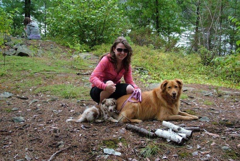 Jouez avec votre chien sur le camping