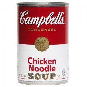 Puis-je donner mon chien soupe poulet et nouilles?