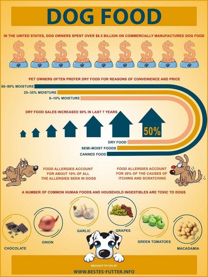 Infos sur les aliments pour chiens