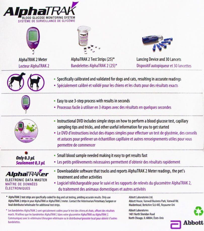 AlphaTRAK 2 sang kit de système de surveillance de la glycémie