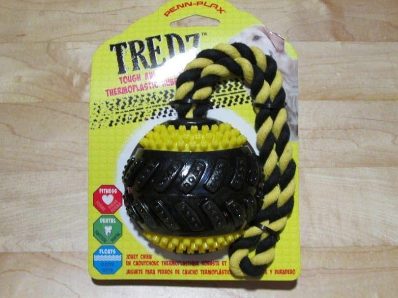 Balle Chien, caoutchouc avec corde
