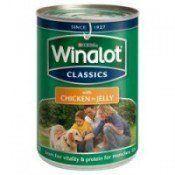 Une boîte de nourriture winalot chien