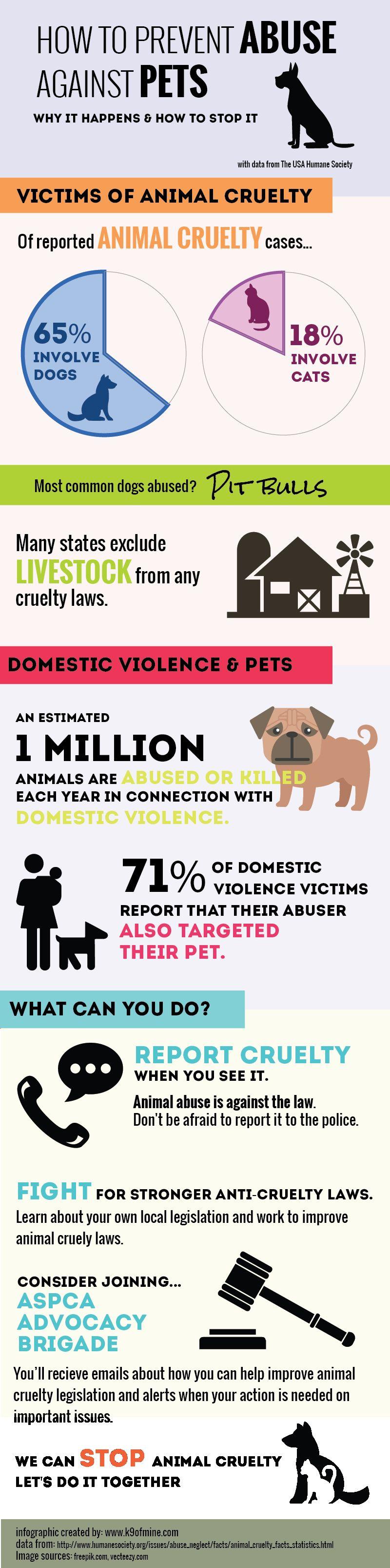 Comment prévenir l`abus animal infographique