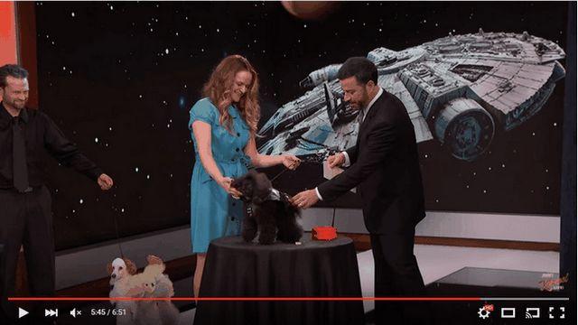 Halloween costumes défilé de chiens de Jimmy Kimmel: Darth Vader et kim kardashian