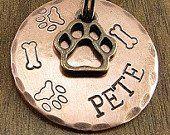 Bronze & amp; Copper Dog ID Tag