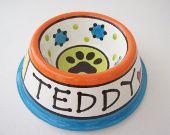 écuelle pour chien Colorful personnalisé en céramique
