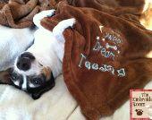 Fleece Personalized chien couverture