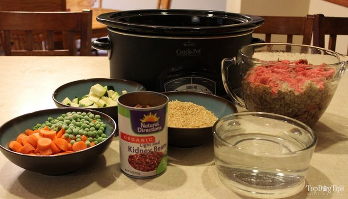 Viande Recette Riz Crock Pot Dog Food