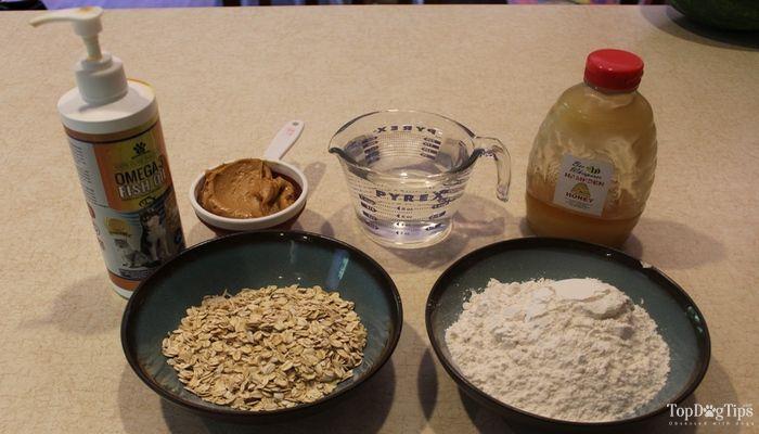 Recette: beurre d`arachide et d`avoine biscuits pour chiens