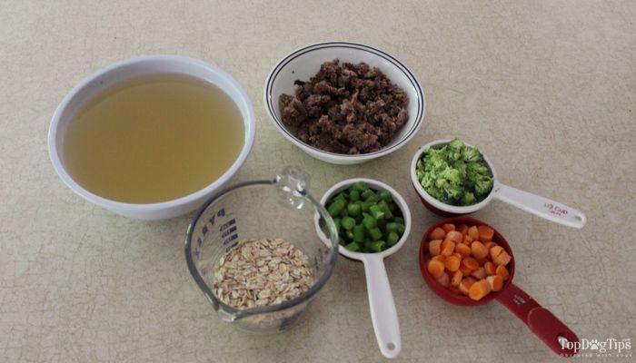 Recette: venaison et ragoût de légumes chiens faits maison nourriture