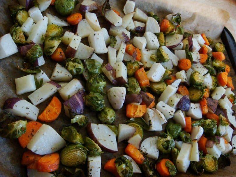 Medley de légumes pour les chiots