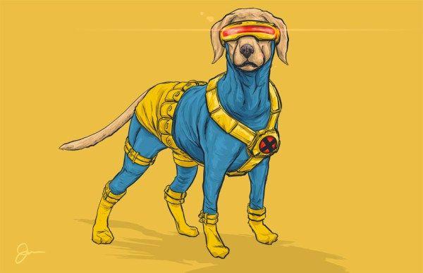 Vos chiens favoris - sous forme de super-héros!
